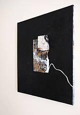 Obrazy - okno /abstraktná maľba na plátne - kombinovaná technika - A3/ - 9908745_