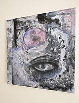 Obrazy - °myseľ° /abstraktná maľba - kombinovaná technika na plátne/ - 9909145_