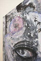 Obrazy - °myseľ° /abstraktná maľba - kombinovaná technika na plátne/ - 9909146_