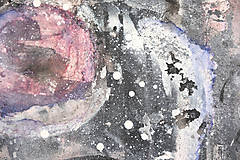 Obrazy - °myseľ° /abstraktná maľba - kombinovaná technika na plátne/ - 9909152_