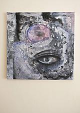 Obrazy - °myseľ° /abstraktná maľba - kombinovaná technika na plátne/ - 9909358_