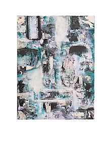 Obrazy - °spomienky° /abstraktná maľba na plátne - kombinovaná technika/ - 9909415_