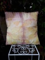 Úžitkový textil - Ecoprint hodvábna obliečka Rosé - 9910058_