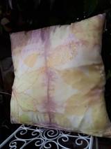 Úžitkový textil - Ecoprint hodvábna obliečka Rosé - 9910060_