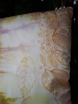 Úžitkový textil - Ecoprint hodvábna obliečka Rosé - 9910062_