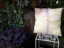 Úžitkový textil - Ecoprint hodvábna obliečka Rosé - 9910079_