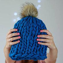 """Čiapky - Chunky """"Handspunka"""" extra hrubá pletená vlnená merino čiapka - 9907900_"""