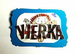 Magnetky - Vierka (Tyrkysová) - 9910358_