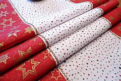 Úžitkový textil - Vianočná štóla červeno zlatá - 9908769_