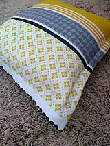 Úžitkový textil - Obliečka-žlto-sivá - 9909422_
