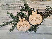 Dekorácie - Vianočné ozdoby Jablko - 9907915_