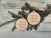 Dekorácie - Vianočné gule drevené - 9907925_