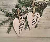 Vianočné ozdoby Srdiečka