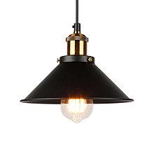 Svietidlá a sviečky - Závesné svietidlo s čiernym hlbokým tienidlom, 220mm - 9909135_