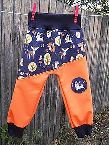 Detské oblečenie - Softshellové kalhoty-turky - 9908886_