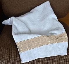 Úžitkový textil - Ľanové plátno na pečivo, bylinky, huby... - 9907998_