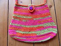 Detské tašky - Dievčenská háčkovaná kabelka - 9909955_