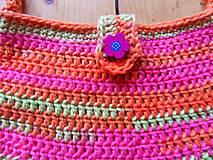 Detské tašky - Dievčenská háčkovaná kabelka - 9909957_