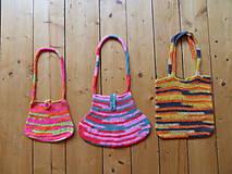 Detské tašky - Dievčenská háčkovaná kabelka - 9909960_