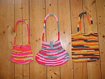 Detské tašky - Dievčenská háčkovaná kabelka - 9909963_