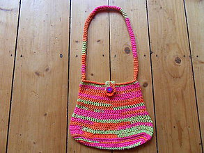 Detské tašky - Dievčenská háčkovaná kabelka - 9909950_