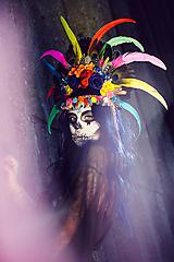 Ozdoby do vlasov - Koruna z kolekcie Santa Muerte Halloween - 9908388_