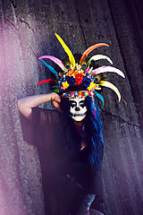 Ozdoby do vlasov - Koruna z kolekcie Santa Muerte Halloween - 9908389_