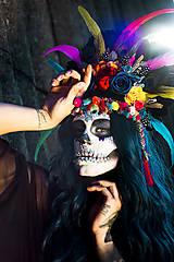 Ozdoby do vlasov - Koruna z kolekcie Santa Muerte Halloween - 9908390_