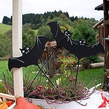 Dekorácie - Nezbedné netopiere - zápich - 9908171_