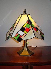 Svietidlá a sviečky - Tiffany lampa - 9909752_