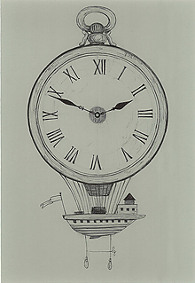 Kresby - Let časom, kresba - 9907662_