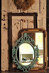 Zrkadlá - Barokové zrkadlo (Tyrkysová) - 9909204_