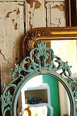 Zrkadlá - Barokové zrkadlo (Tyrkysová) - 9909205_