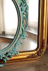 Zrkadlá - Barokové zrkadlo (Tyrkysová) - 9909206_