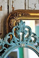 Zrkadlá - Barokové zrkadlo (Tyrkysová) - 9909207_
