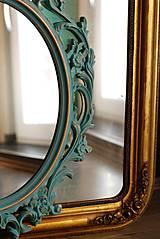 Zrkadlá - Barokové zrkadlo (Tyrkysová) - 9909208_