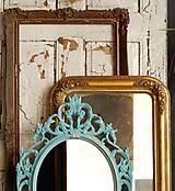 Zrkadlá - Barokové zrkadlo (Tyrkysová) - 9909209_