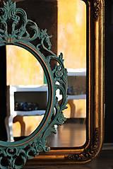 Zrkadlá - Barokové zrkadlo (Tyrkysová) - 9909210_