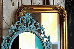 Zrkadlá - Barokové zrkadlo (Tyrkysová) - 9909211_