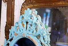 Zrkadlá - Barokové zrkadlo (Tyrkysová) - 9909212_