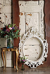 Barokové zrkadlo (Biela)