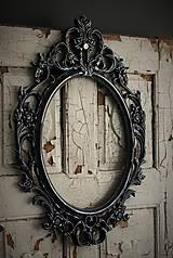 Zrkadlá - Barokové zrkadlo (Čierna) - 9909301_