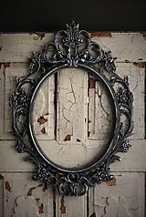 Zrkadlá - Barokové zrkadlo (Čierna) - 9909302_