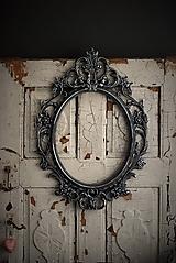 Zrkadlá - Barokové zrkadlo (Čierna) - 9909303_