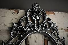Zrkadlá - Barokové zrkadlo (Čierna) - 9909310_