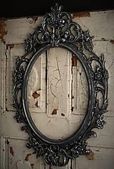 Zrkadlá - Barokové zrkadlo (Čierna) - 9909311_