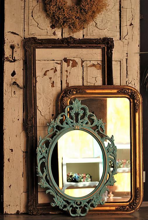 Barokové zrkadlo (Tyrkysová)
