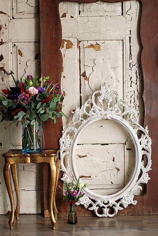 Zrkadlá - Barokové zrkadlo (Biela zlato) - 9909227_