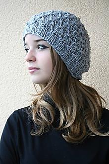 Čiapky - pletena čiapka - 9910031_
