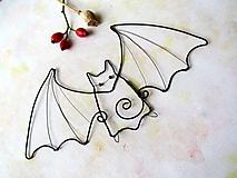 Dekorácie - veľký netopier - 9908429_